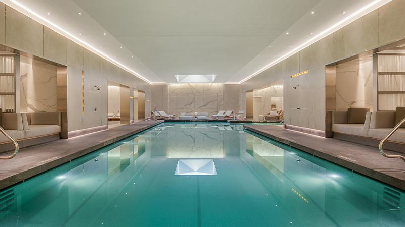 the waterline club lap pool