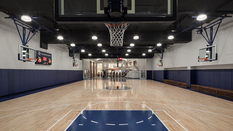 the waterline club indoor basketball court
