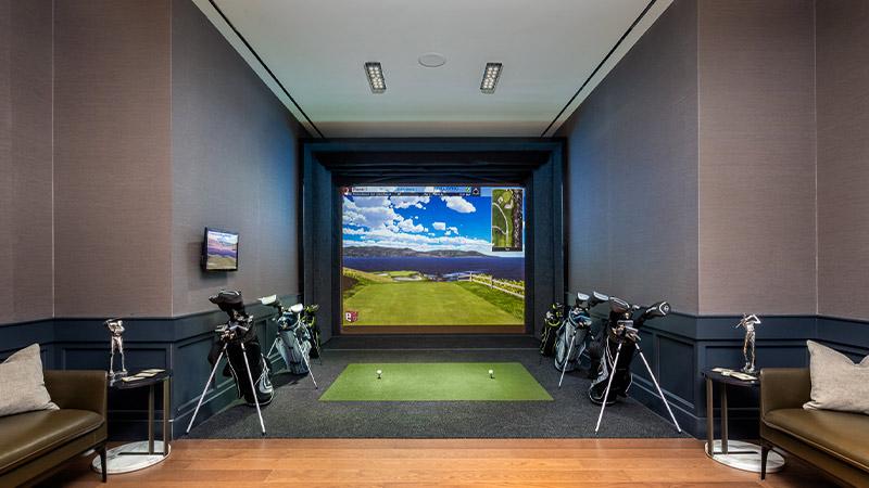 the waterline club golf simulator