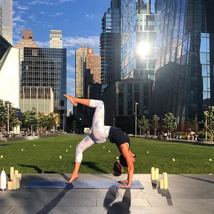 waterline square social instagram yoga in the park post