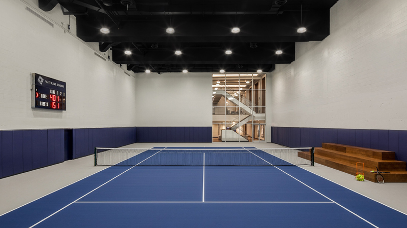 the waterline club indoor tennis court