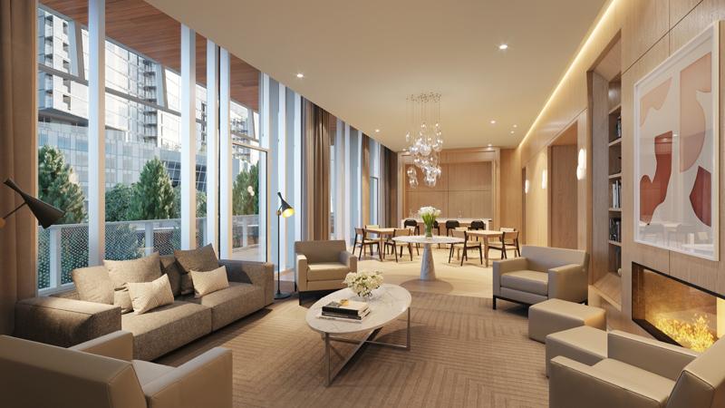 one waterline square private lounge
